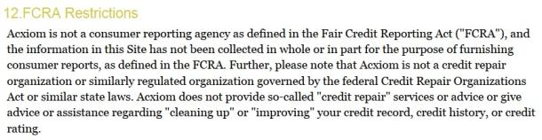 FCRA Restrictions