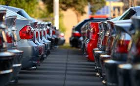 Cars Waiting for Buyers in a Car Dealership