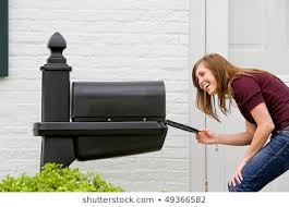 Millenial Checks Her Mailbox For Direct Mail