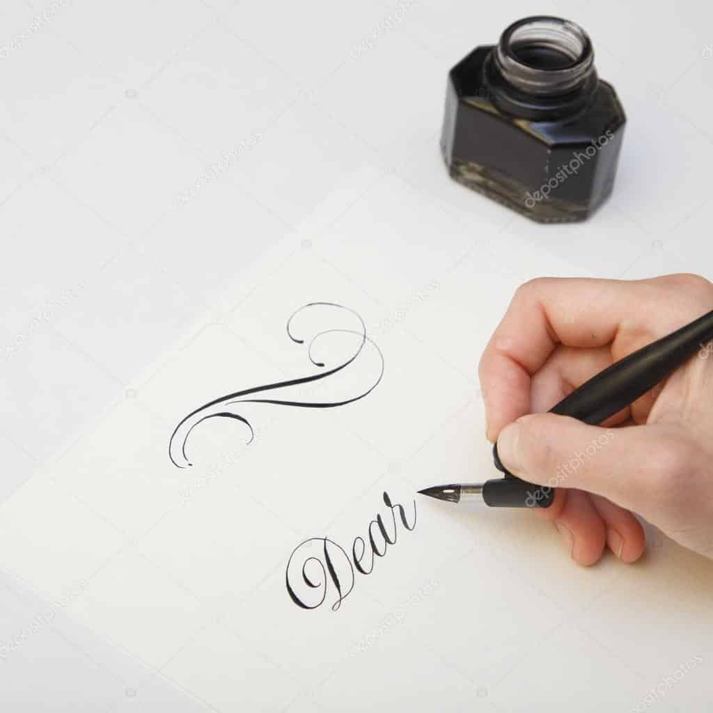 copy writing using fountain pen